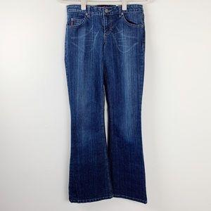 Mudd Flare Leg Dark Wash Jeans Size 5 Juniors